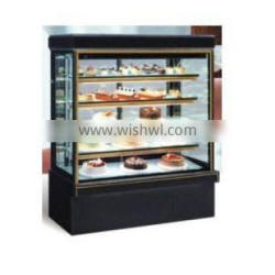 Marble refrigerated glass cake showcase, commercial cake displayer cooler