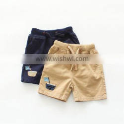 Wholesale solid color cotton casual style boys shorts
