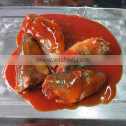 canned mackerel fish in round tin