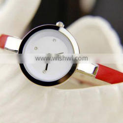 YB 2015 new design personal white leather band western girls wrist watch in china