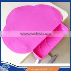 Wholesale Newly 2015 baby silicone diner placemat (above 6 months) 4 colors