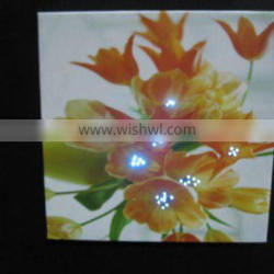 LED flower canvas painting light