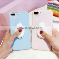 new Love Doll Silicone Cat Phone Case TPU Squishy Case For iPhone 7