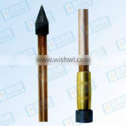Pure Copper earth rod copper thickness more than 0.25mm Guangzhou supplier