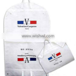 cusotm suit cover foldable garment bag suit carrier with handles travel suit cover with buttons