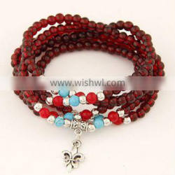2017 hot sell wholesale Fashion jewelry Imitation of garnet bracelet