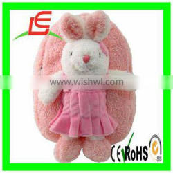 plush rabbit backpack school bags with stuffed toy kids gift item