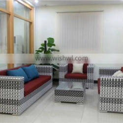 Mixed Colour Outdoor Garden Sofa Set Durable Rattan Wicker Leisure Furniture