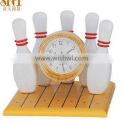 bowling shape clock business gift home decorating clock