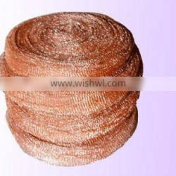 Copperizing mesh scourers