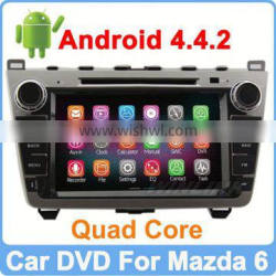 Ownice Quad Core Cortex A9 Pure Android 4.4.2 car gps radio for mazda 6 HD 1024*600
