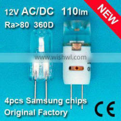 Hot Promotion 12VAC/DC G4 LED light Hight Power with Samsung LED Chips