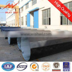 110KV Outdoor 30FT-90FT treated steel round pole price for Philipine