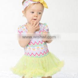 2017 new hot sell summer Easter day green suit, baby set ,high quqlity , romper with headband