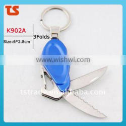 2014 Mini Cute design LED metal utility keychain gift knife K902A