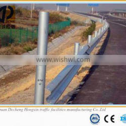 High quality hot dip galvanized Q235 roadway guardrail with CE certificate