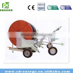 Sprinkler gun irrigation system with 65cm diameter 300m long PE hose