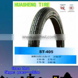 Motorcycle tire 250-17 with tube