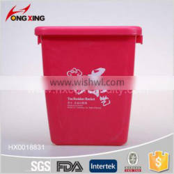 Square plastic bucket with filter inside