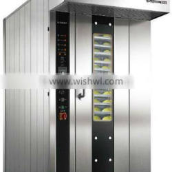 16 trays commercial gas rotary oven attached one free trolley ideal for wide range of hot foods