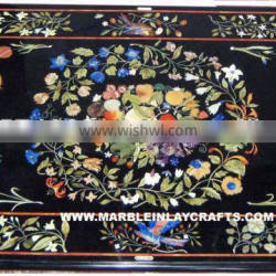 Antique Marble Inlay Table Top Inlaid Marble Dining Table