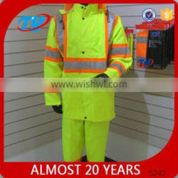 pvc quilted bomber jacket and waterproof trousers