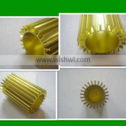 6063 T5 gold aluminum heat sink profile/factory price