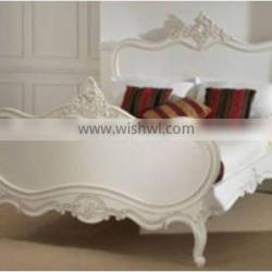 French Antique Painted Rococo Style Bed