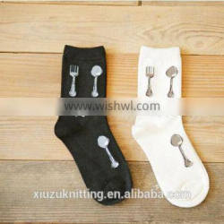 tableware pattern cool winter unisex sock