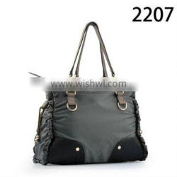 2207 New Arrival Grey Nylon Handbags for girls Designer Fabric bags wholesale