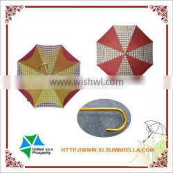 """23"""" metal with golden coated shaft straight safety umbrella"""