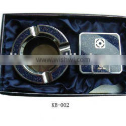 metal gift set lighter and ashtray with great quality
