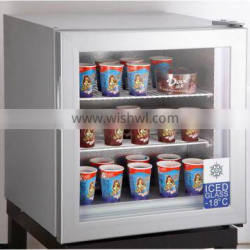 55L Compact Upright Compressor Freezer with tempered glass door