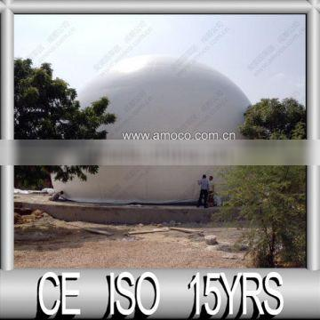 10,000m3 biogas container --- work with torch, boiler, generator, cooking range.