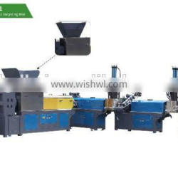 Cuba hot sale 3 stages finger type force feeder plastic film recycling machine