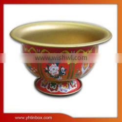 bowl shaped tin container