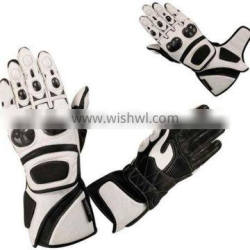 Motorcycle Motorbike Racing Protection Leather Gloves