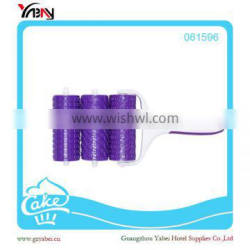 Purple New Design Pastry Roller Cutter for 3 different shape
