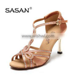 Salsa Dance Shoes Woman Latin Ballroom Dance Shoes Rhinestone Shoes S-122