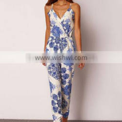 factory direct clothing sexy spaghetti strap floral print women jumpsuits and rompers