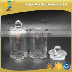 150ml 5oz clear glass candle jar with lid