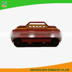500kg rubber track chassis for fire fighting truck