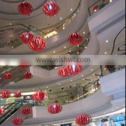 christmas shopping mall atrium hanging ball with light decoration