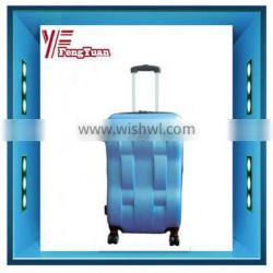 2014 china supplier cheap free custom logo abs TROLLEY CASE with 8 wheels