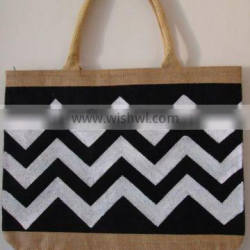 2014 CHEVRON JUTE SHOPPING BAG