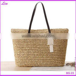 Fashion outdoor straw beach bag