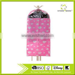 Store More Pink Clouds Suit Garment Clothes Cover Bag