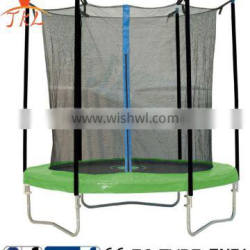6ft galvanized steel large sized trampoline with safety enclosure for sale