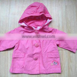 girl jacket 2015 girls fancy jacket with hood sute girls clothes pink jacket