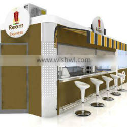 Factory price with low cost outdoor shipping container restaurant/ modular shipping container restaurant/ fast food restaurants
